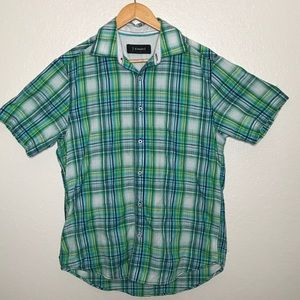 J. Campbell Men's Casual Button Front ShirtSz M